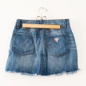 Guess Jeans Front Button Denim Skirt